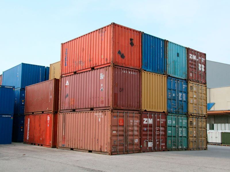 Морские контейнереры бывшие в употреблении